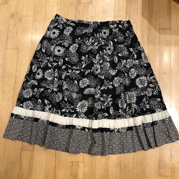 2e5701ef53 White Stag Skirts | 4x Skirt Plus Size Cotton Tiered Floral | Poshmark
